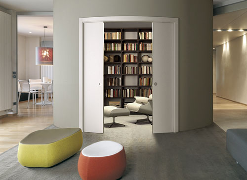 ECLISSE Circular - curved pocket doors