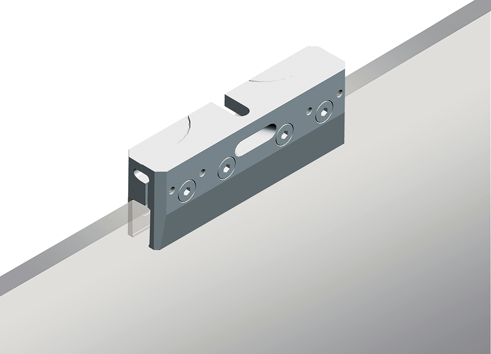 clamp for sliding glass doors