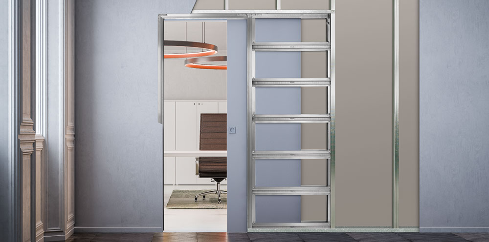 flush pocket door system